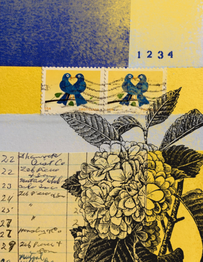 stamps and flowers